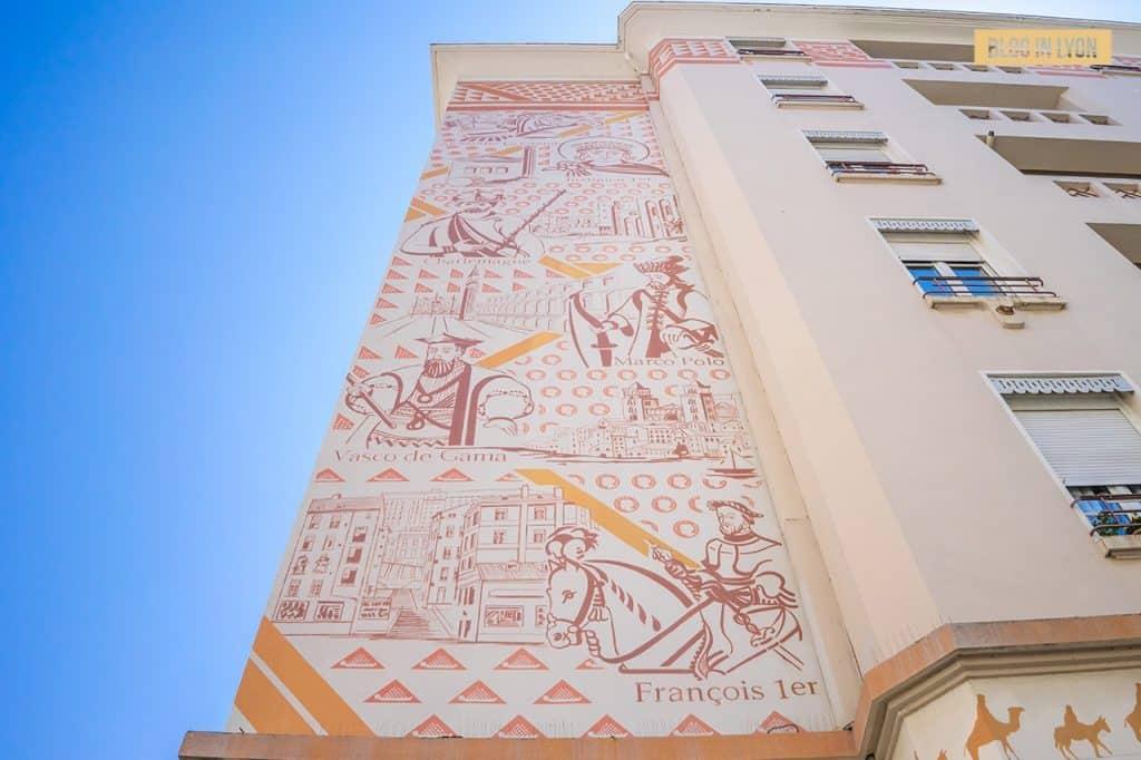 Fresque Porte de la Soie - Top 15 des plus beaux murs peints de Lyon | Blog In Lyon