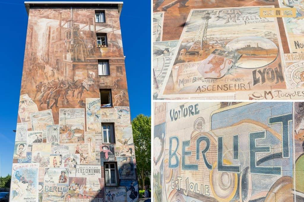 Une cité industrielle - Mur peint Lyon | Blog In Lyon