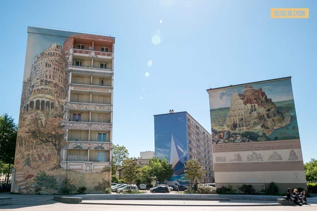 Fresque Tour de Babel - Mur peint Lyon | Blog In Lyon