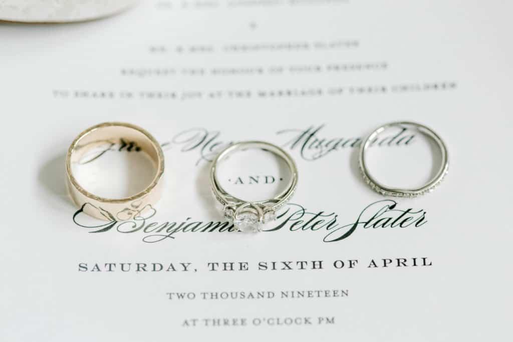 wedding invitations with wedding bands