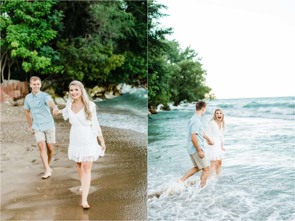 fun engagement session pictures in Chicago