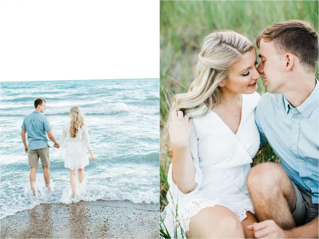 Engagement session on Evanston the beach
