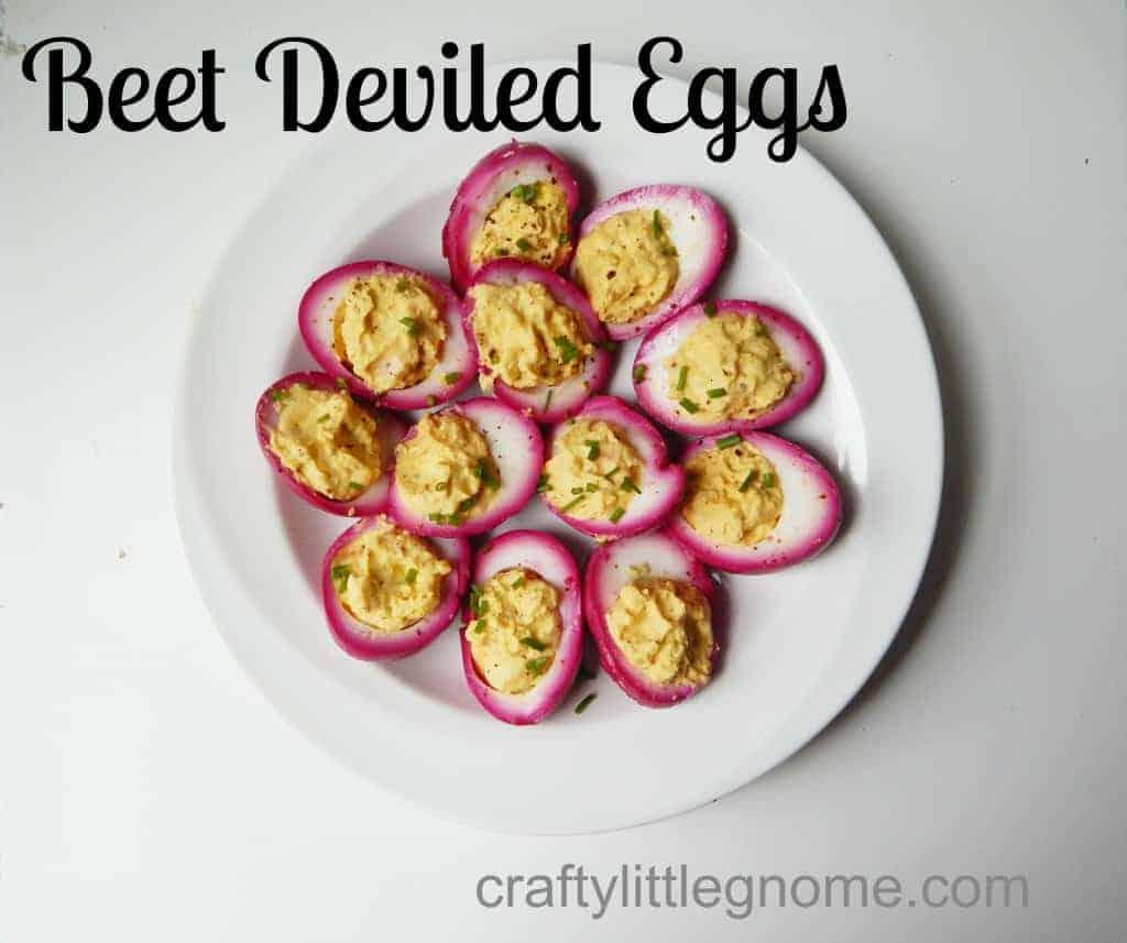 beet deviled eggs