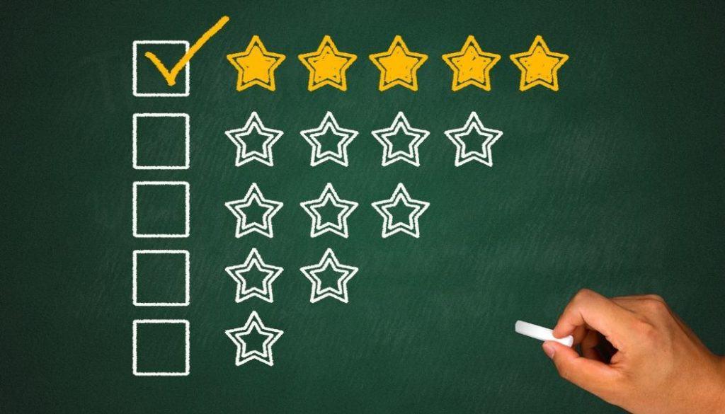 Sterne für Evaluation