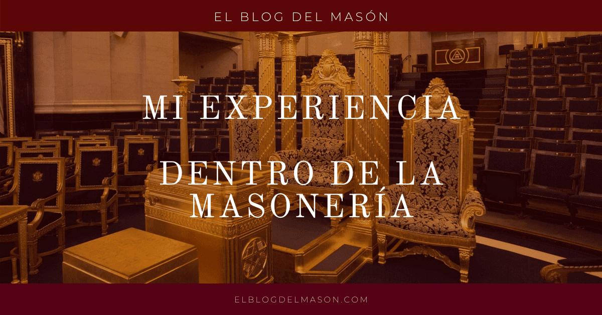 Mi experiencia dentro de la Masonería