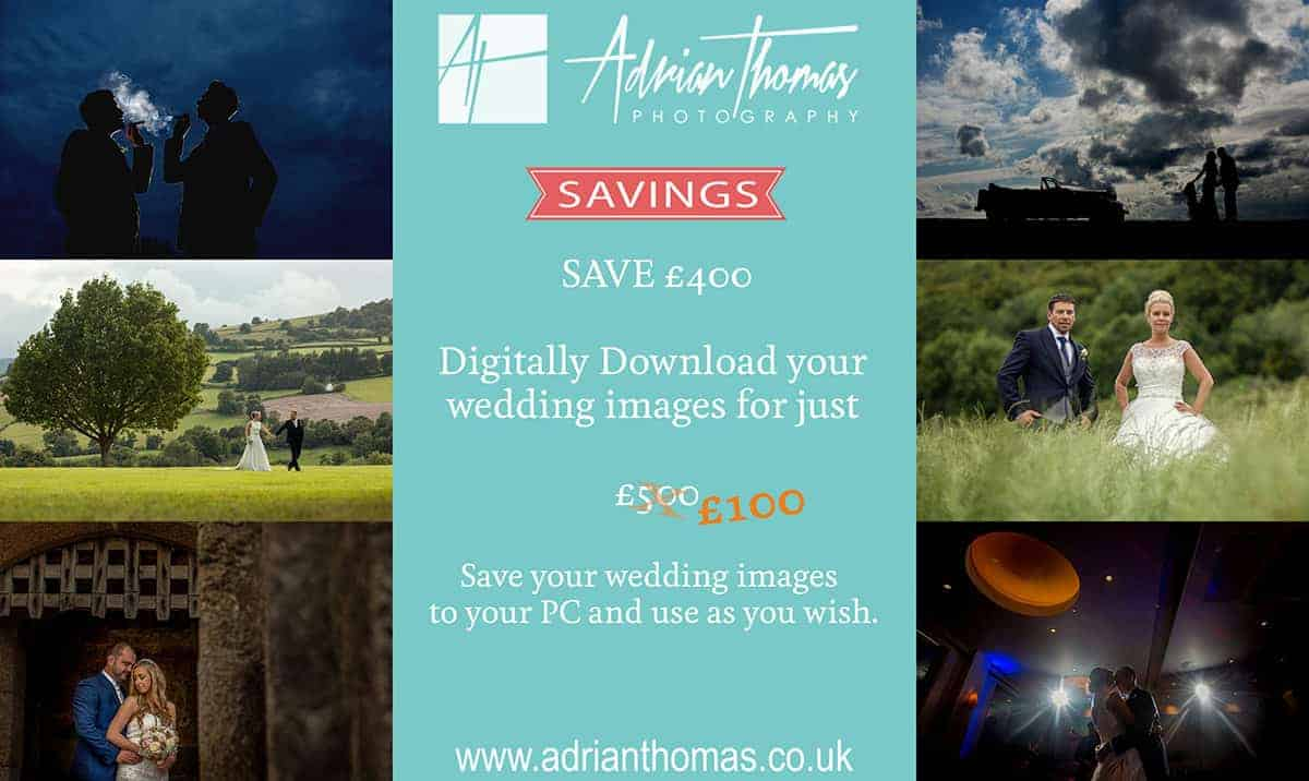 Digitally download your wedding images