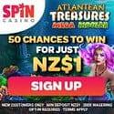 Spin Casino exclusive bonus banner 250x250