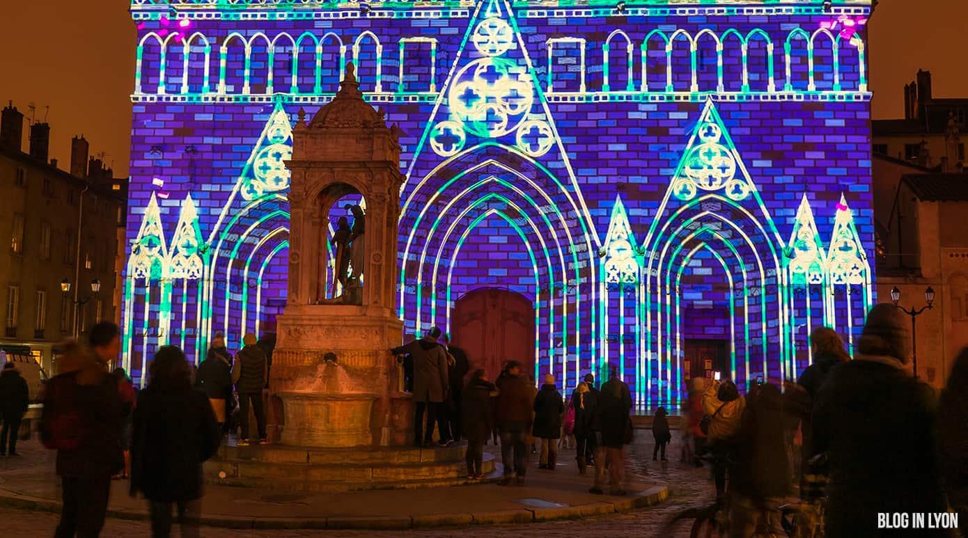 Fête des Lumières Lyon 2017 - Cathédrale Saint Jean