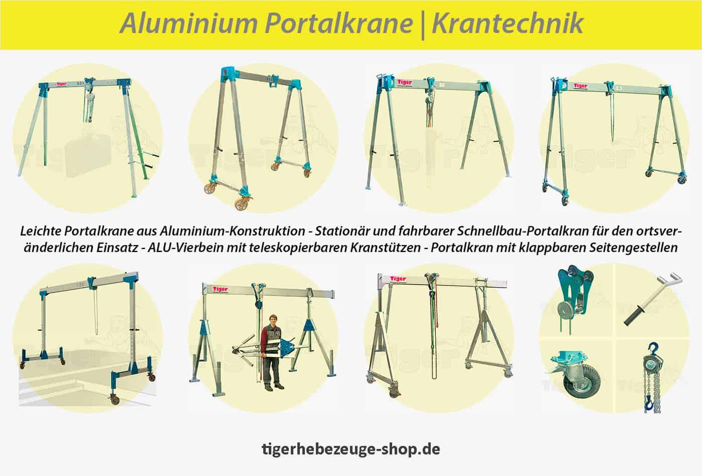 Aluminium Portalkrane