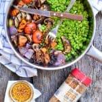 Vegan Grilled Vegetables with Peas