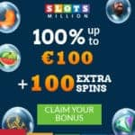 Slots Million Casino 100 gratis spins and 100% free bonus