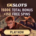 1XSLOTS | 150 free spins + 1500€ gratis + no deposit bonus