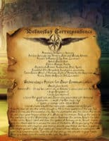 Wednesday Correspondence information spell page