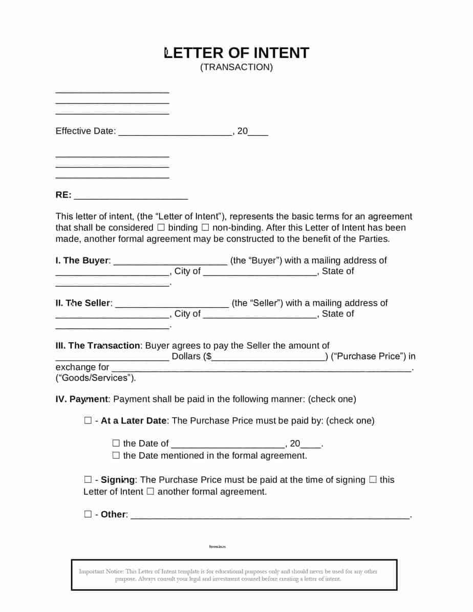 indicative offer letter example