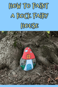 Painted rock fairy house