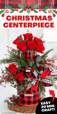 Christmas Centerpiece - Easy Home Decor Flower Arrangement Craft