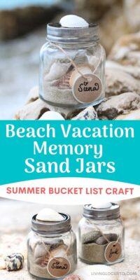 Beach Memory Sand Jars Summer Bucket List Craft