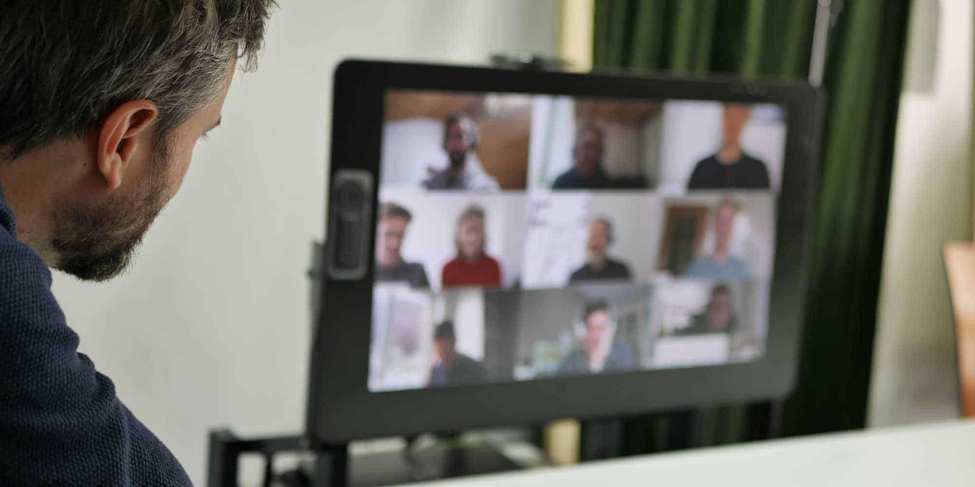 Bild: Bildschirmansicht der Online-Fortbildung aus dem Homeoffice, Foto: ver.de landschaftsarchitektur