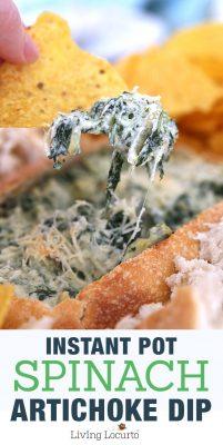 Instant Pot Spinach Artichoke Dip Recipe! Living Locurto