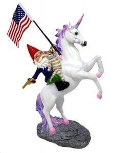 unicorn garden gnome