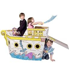 pirate ship play house - Awesome holiday Christmas gift ideas for kids of all ages! LivingLocurto.com
