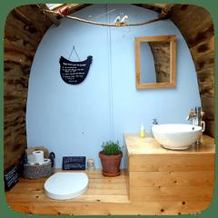 plush, eco campsite toilet