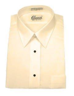 Dress Shirt That Takes Studs And Cuff Links Mens Dress Shirt