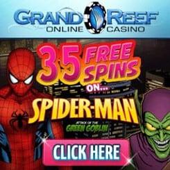 Grand Reef Casino   35 gratis spins + 1000% bonus + €5000 free