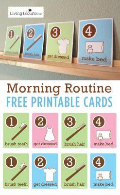 Kids Morning Routine Free Printable Flash Cards