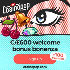 Casino Pop | 100 free spins + 450% bonus + €600 gratis
