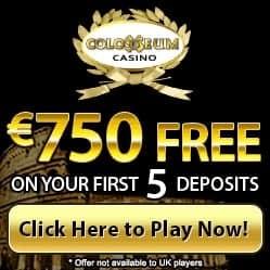 Colosseum Casino   €£$ 750 free bonus and no deposit free spins