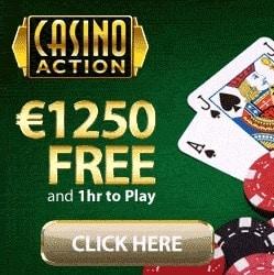 Casino Action | €1250 free play & free spins - no deposit bonuses
