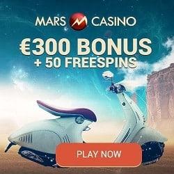 Mars Casino   50 instant free spins + €300 (or 3 BTC) bonus   Review