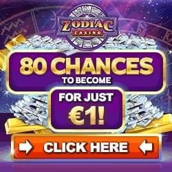Zodiac Casino   80 free spins on jackpot + €500 free bonus   Review