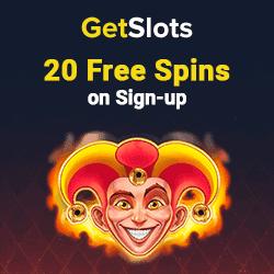 GetSlots Casino 20 FS NDB banner