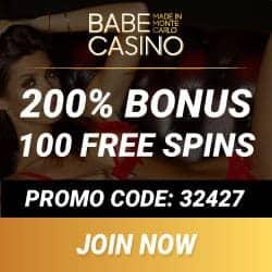 Babe Casino 100 free spins & 500€ free bonus - made in Monte Carlo!