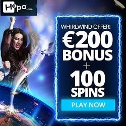 Hopa Casino 100 free spins and 100% bonus for new players