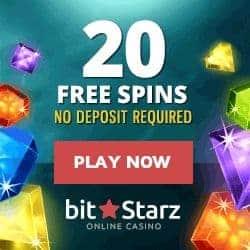 20 free spins on registration, no deposit bonus!