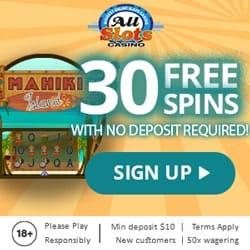 All Slots Casino bonus and free spins