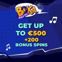 Boka Casino bonus banner