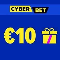 Cyber.Bet banner 10 EUR free bet