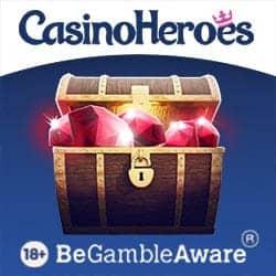 Casino Heroes 5€ free bonus plus 900 free spins or €1300 & 200 FS