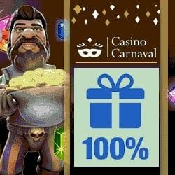 Casino Carnaval $300 free play bonus on new slots and classic games