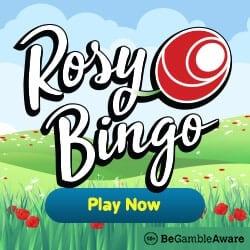 Rosy Bingo Casino - 67 slot free spins and £40 free bingo bonus