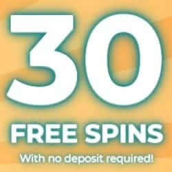30 free spins exclusive bonus