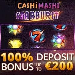 100% bonus + €200 gratis + 100 free spins