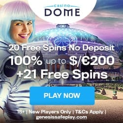 21 free spins and 100% up to 200 EUR welcome bonus
