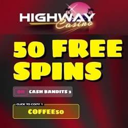 Highway Casino banner free spins 250x250