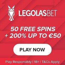 Legolasbet CasinoReview 50 free spins and €50 free bonus