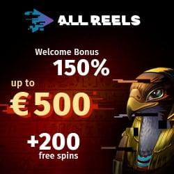 150% bonus and 200 freespins
